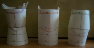 The basic draft on the body shapes - front