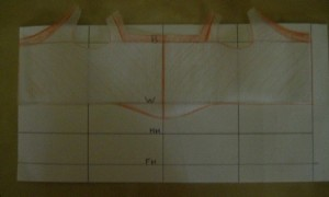 column and draft, flattened