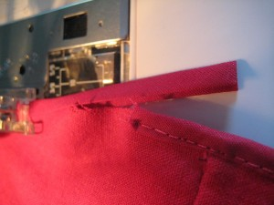 Cut the Tape, about an inch longer than you need.  We're going to overlap the ends.