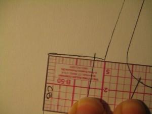 measuring back top of block