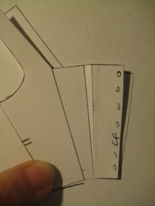 tracing bodice front