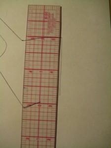 line of bodice front below waist