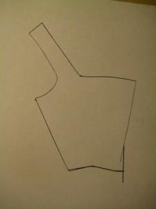 bodice bottom, marked