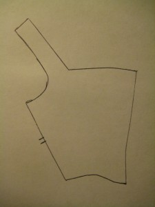front traced