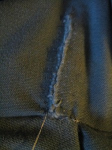 all pick stitches in place