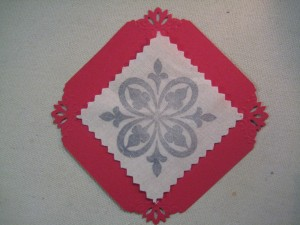 Pieces to be used for card