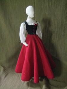 legless doll, dressed