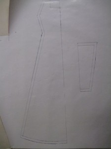 chemise pieces traced