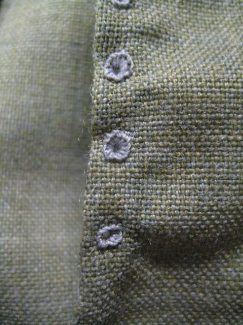 very tiny handworked eyelets