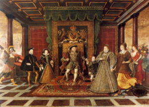 a later portrait of the family of Henry VIII