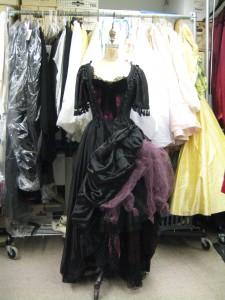 a tarted-up black dress