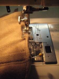 corset in sewing machine