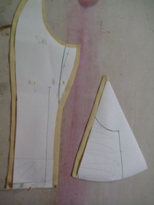 side back piece and hip gusset