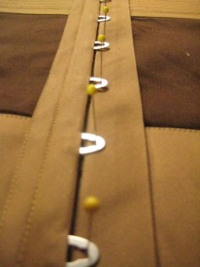 pin-marking the button locations