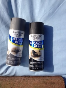 Closeup of spray paint