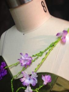 closeup of beading