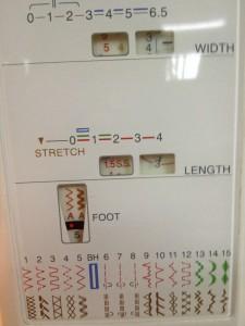 I set my machine for a fairly wide zig-zag stitch.