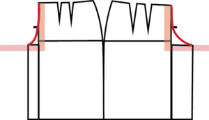 If you measure the two curves you just drew, and they are less than that Crotch Length, you're going to have some problems getting those pants on. Since we know that won't work, let's fix it now.