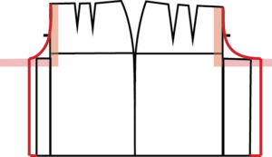 Enlarge the crotch extensions until the curve is the correct length. For most body types, the back will be a larger extension than the front. Check and repeat, if needed.