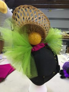 Covering ball with tulle