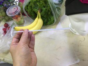 Plastic fruit skewers